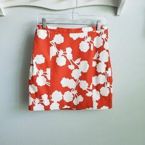 DVF Diane von Furstenberg orange print skirt 4